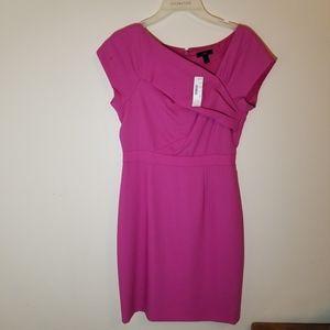 NWT J Crew pink midi wrap style bust dress size 2